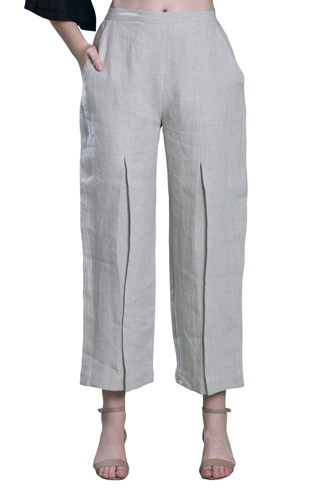 Natural Box Pleat Pants