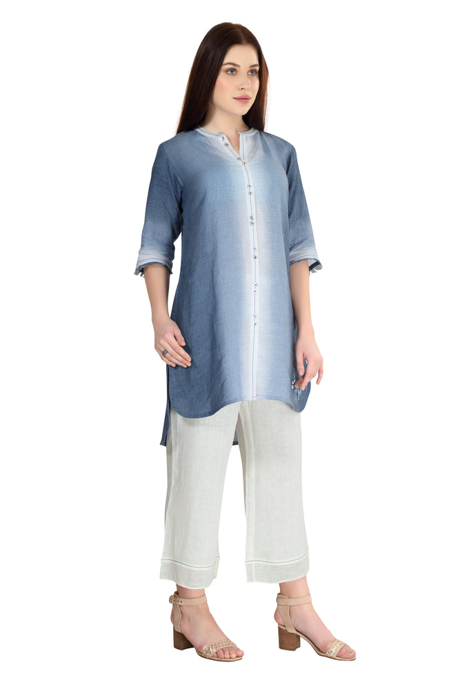 Linen and Linens - Sky Gradient Tunic - 3