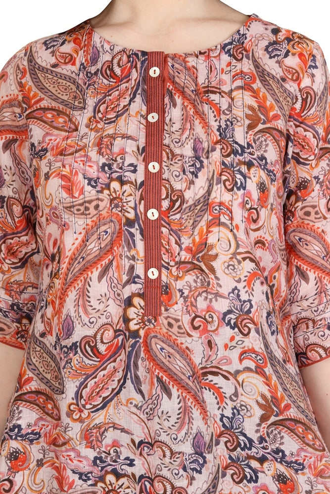Load image into Gallery viewer, Warm Paisley Printed Tunic