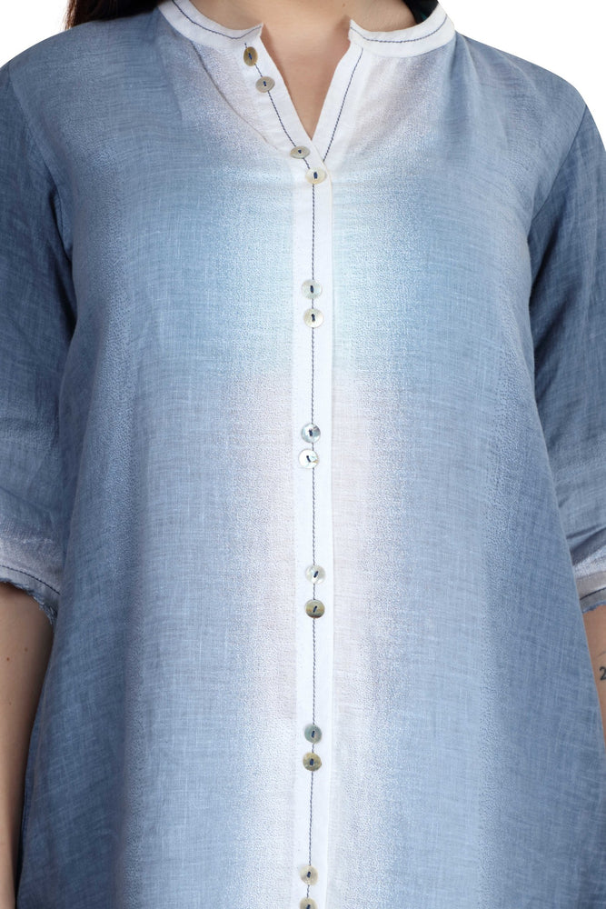 Linen and Linens - Sky Gradient Tunic - 5