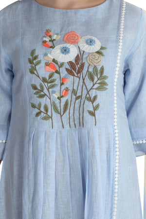 Load image into Gallery viewer, The Blue Bouquet Dress