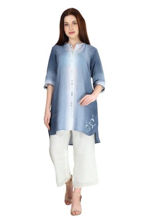 Linen and Linens - Sky Gradient Tunic - 1