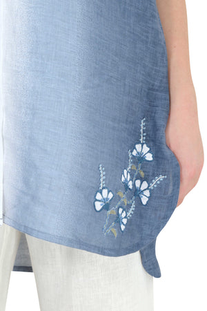 Linen and Linens - Sky Gradient Tunic - 6