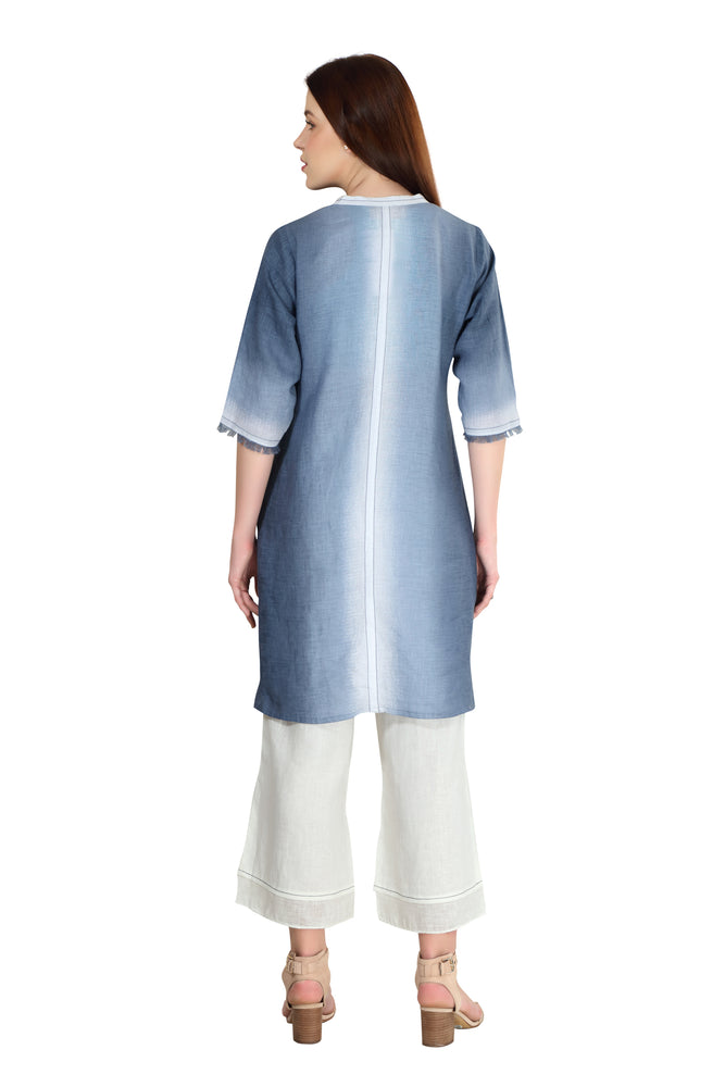 Linen and Linens - Sky Gradient Tunic - 4