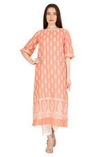 Coral Embroidered Tunic