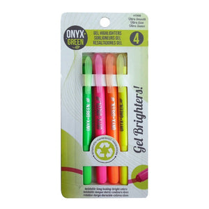 Gel Highlighter Pens  - Made of Recycled Plastic (4 Colors)