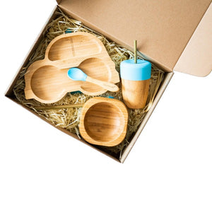 Toddler Weaning Gift Set - Car Shaped (Blue)