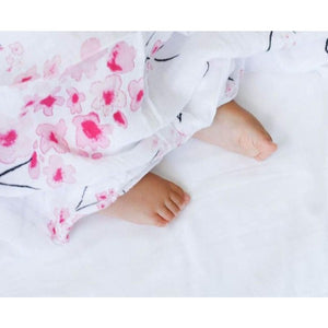 Organic Cotton Swaddle - Cherry Blossom
