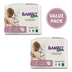 Eco-Friendly Diapers (Size 2, 3-6kgs)
