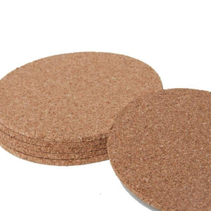 Eco-Friendly Cork Coaster - Round (Set of 5)