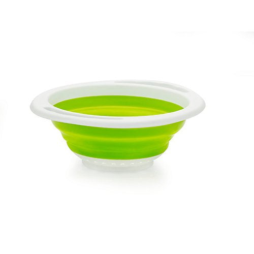 Fuller Brush Collapsible Plastic Colander 12.5x10.5x4 Inches