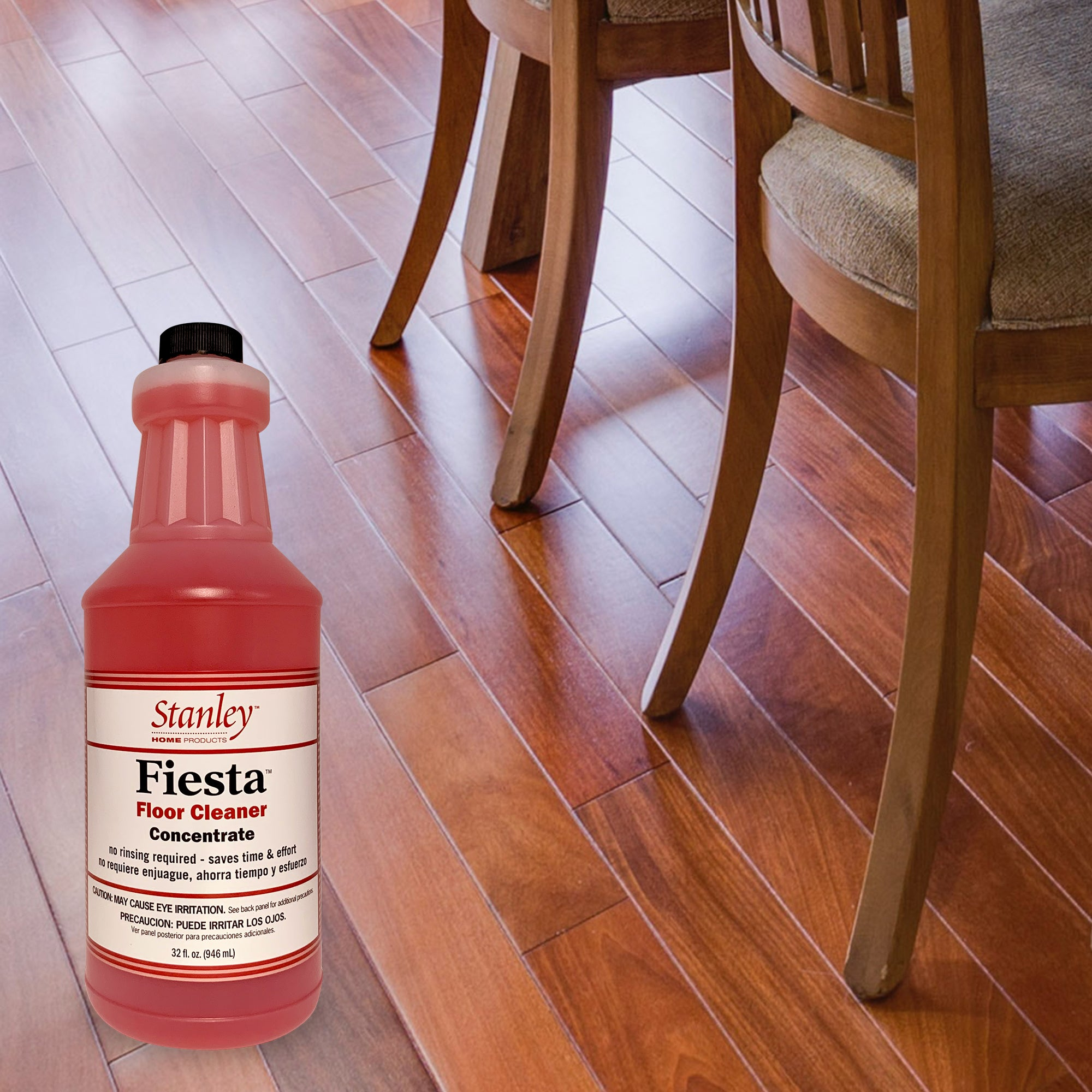 Fiesta Floor Cleaner, For Wood Tile & Hard Floors, Concentrate, Fresh Citrus 32 oz