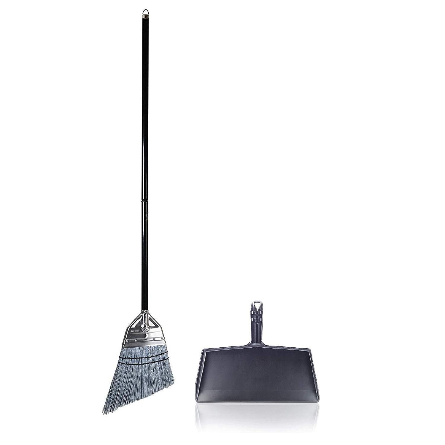 Angle Broom with Clip-On Plastic Dustpan-Brooms & Dustpans-Fuller Brush Company