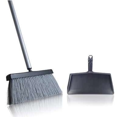 Black Slender Broom & Dustpan Set - Indoor Broom Clip-on Set-Brooms & Dustpans-Fuller Brush Company
