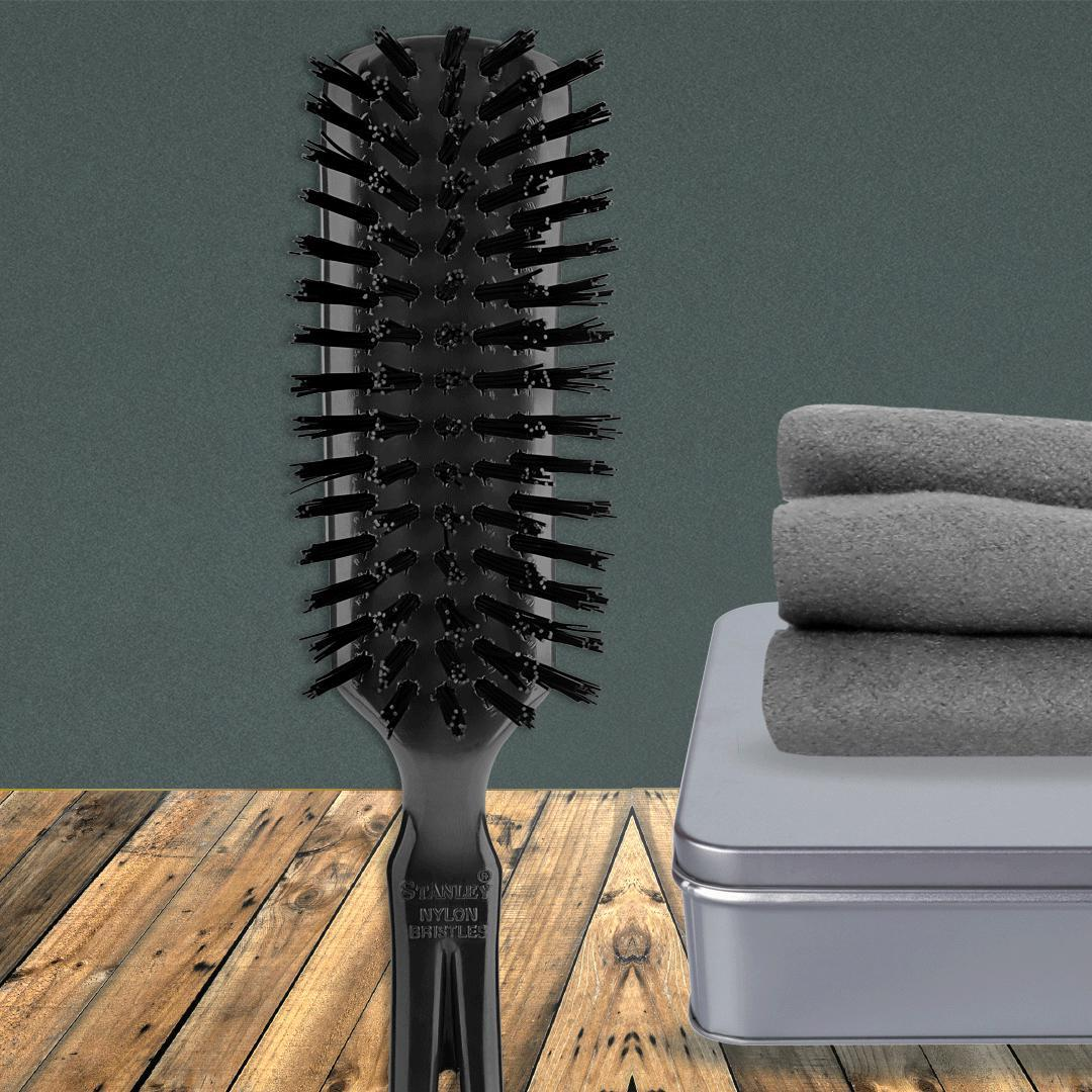 Commander Men's Hairbrush For Wet or Dry Hair Any length - Black-Hair Brushes-Fuller Brush Company
