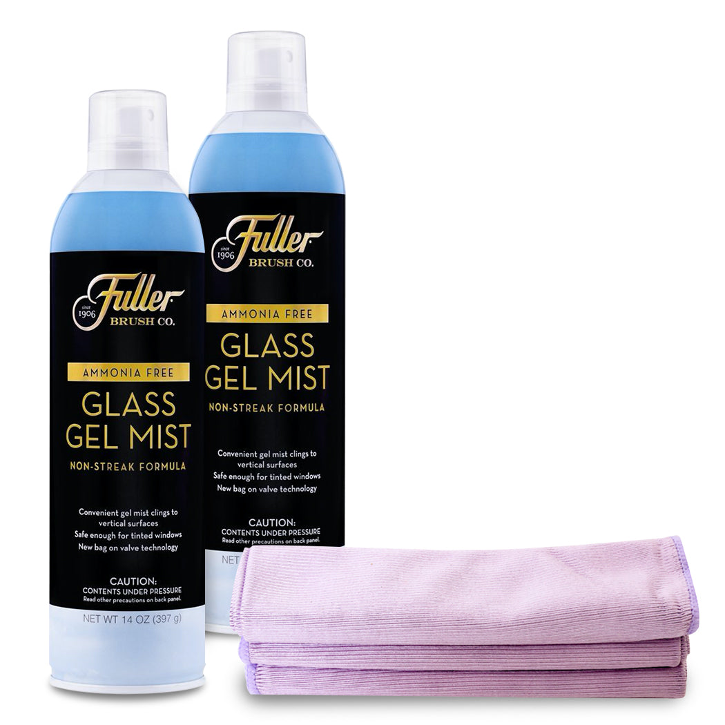 Glass Gel Mist (2x) + Bonus Shine Bright Microfiber Cloths