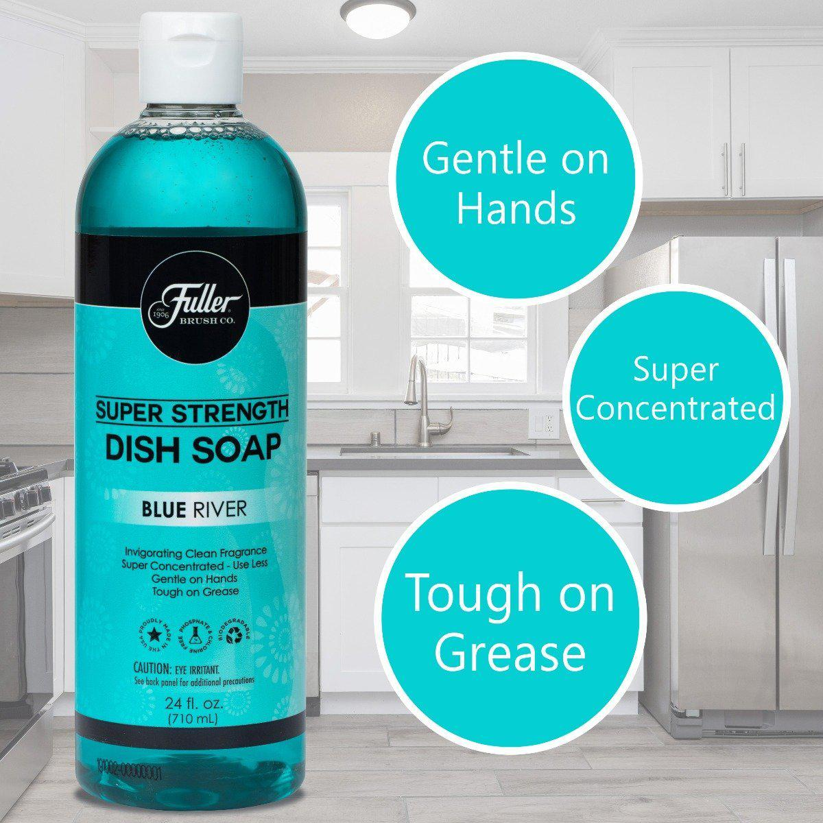 Dish Soap Super Strength - Blue River Invigorating Clean Fragrance-Cleaning Agents-Fuller Brush Company