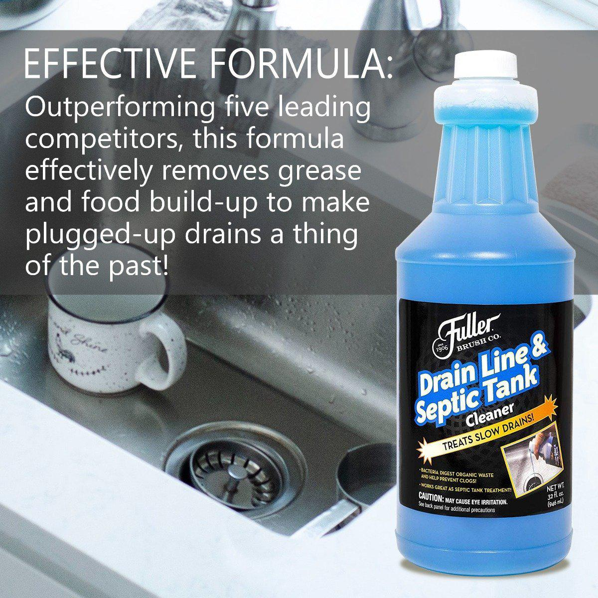 Drain Line & Septic Tank Cleaner - Septic System Treatment & Slow Running Drain Solution-Cleaning Agents-Fuller Brush Company