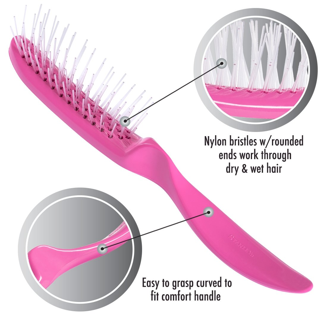 Essentials Detangling Brush - Glider Brush For Styling & Blow-Drying-Hair Brushes-Fuller Brush Company