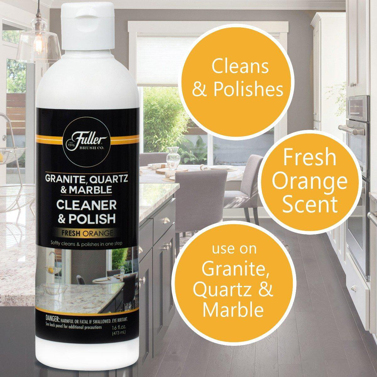 Granite Quartz Marble Countertop Cleaner & Polish - Cleans and Protects-Polishes-Fuller Brush Company