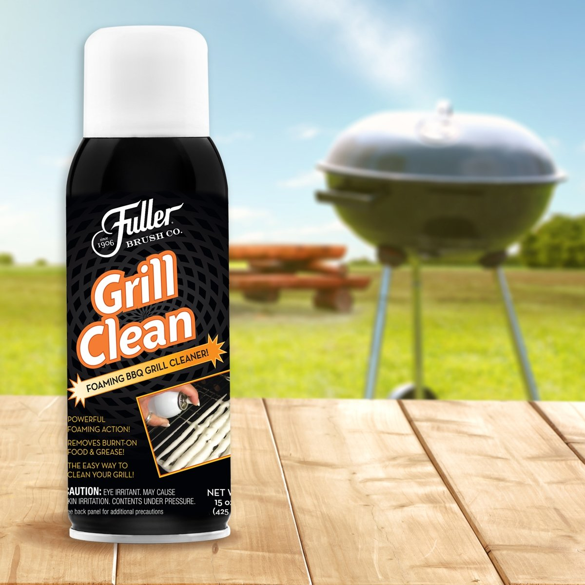 Grill Clean Spray Foam Cleaner - Non Toxic - Loosens Burnt on Grease - 16 oz.-Cleaning Agents-Fuller Brush Company