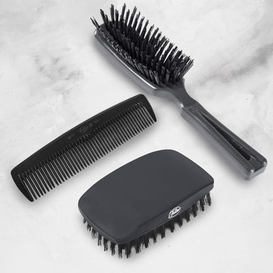 Hair Care Gift Set - Includes Classic Military Hairbrush, Commander Men's Hairbrush and Men's Classic Hair Comb-Hair Brushes-Fuller Brush Company