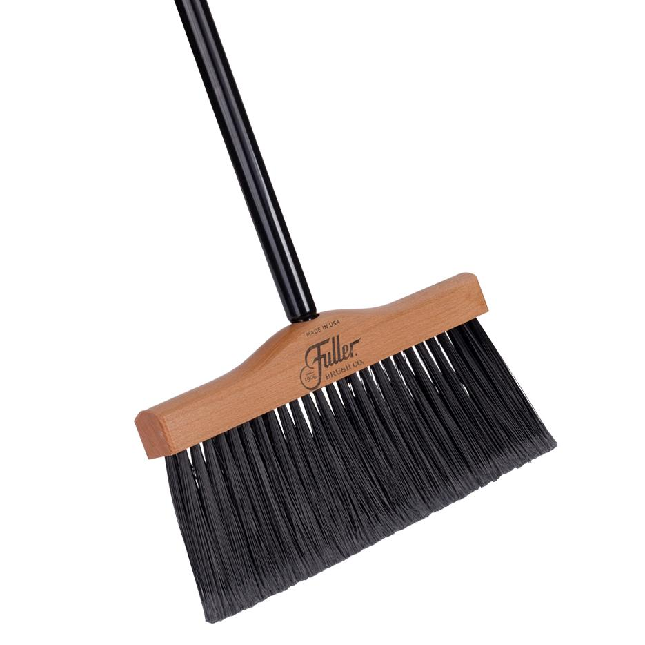 "Handcrafted Extra Wide 12"" Maple Wood Broom w/ 2 Piece Black Steel Handle-Brooms-Fuller Brush Company"