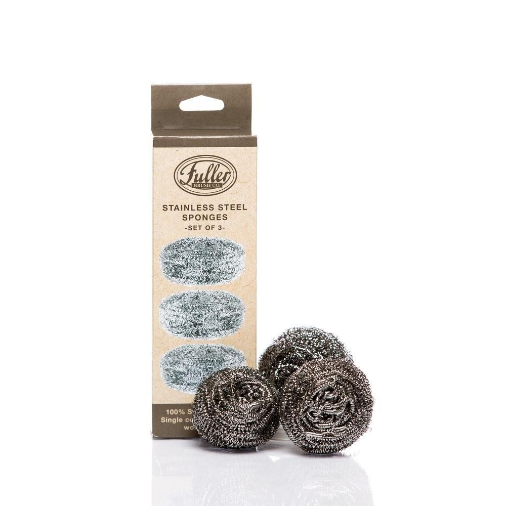 Heavy Duty 100% Stainless Steel Scrubbing Sponges (3 Pack)-Scrubbers-Fuller Brush Company