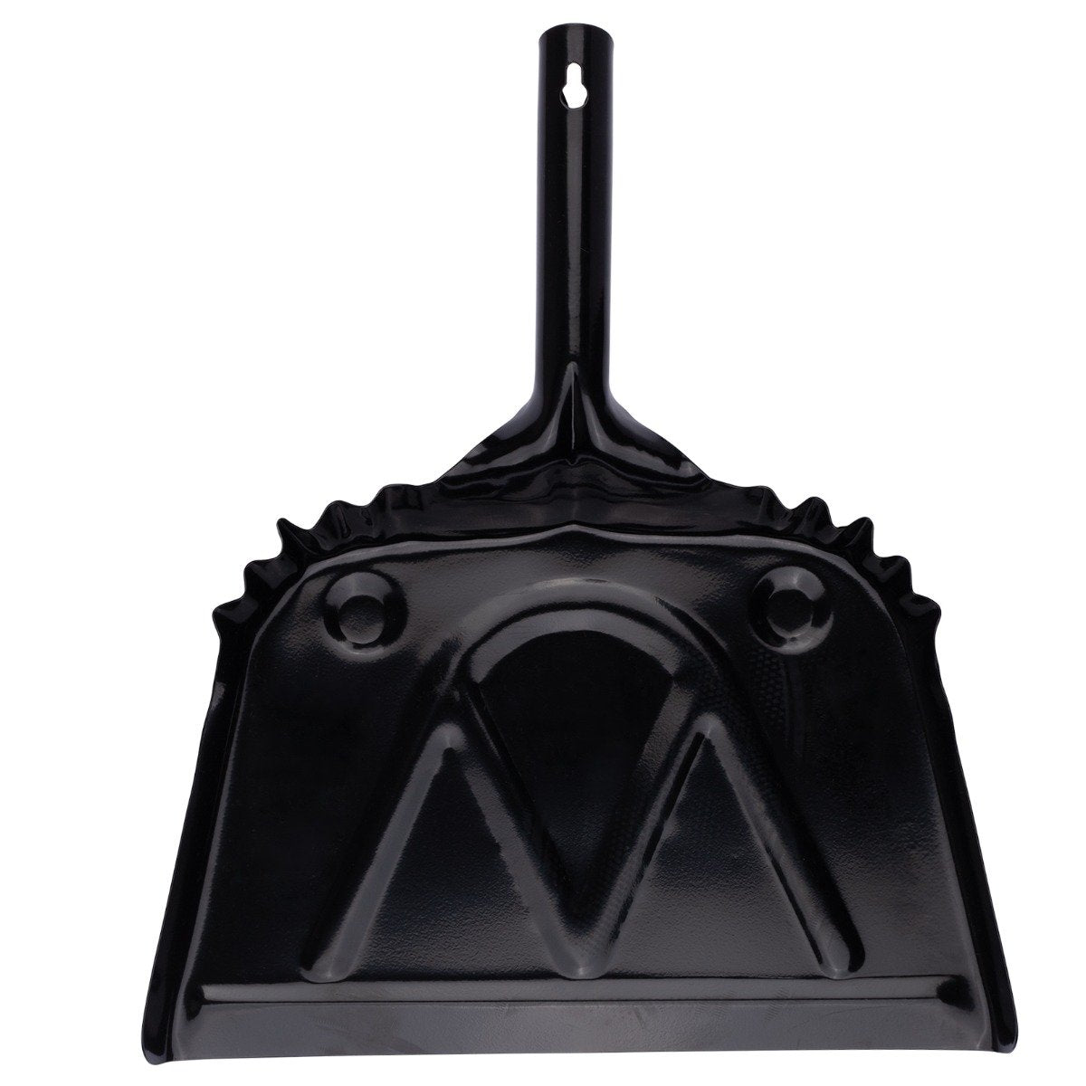 "House of Fuller® Metal Dustpan 12 "" Wide Sweep Heavy Duty Steel w/ Handle & Hook Hanger-Dustpans-Fuller Brush Company"