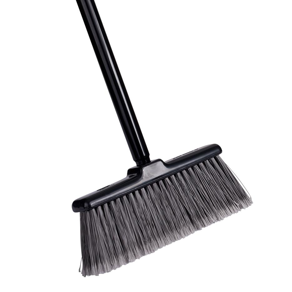 Kitchen Broom Black Light Compact. With 2 Piece Threaded Steel Handle-Brooms-Fuller Brush Company
