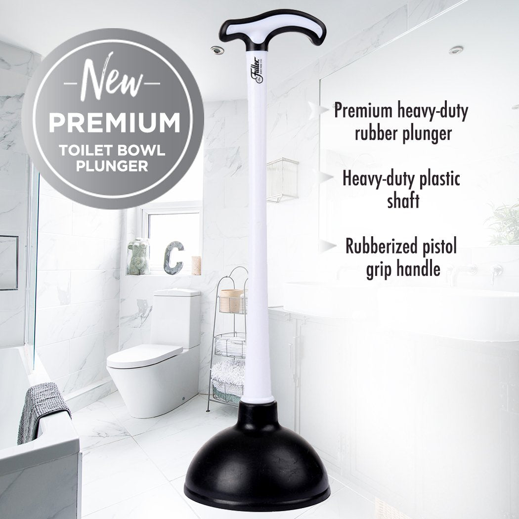 Premium Toilet Bowl Plunger with Unique Pistol Grip Handle-Other Cleaning Supplies-Fuller Brush Company
