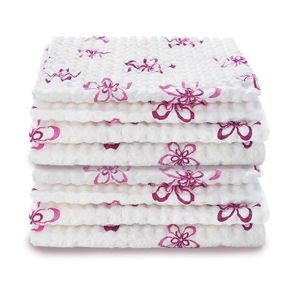 Pretty & Pink Quilted Reusable Cloths - Set of 2 (8 towels total)-Other Cleaning Supplies-Fuller Brush Company