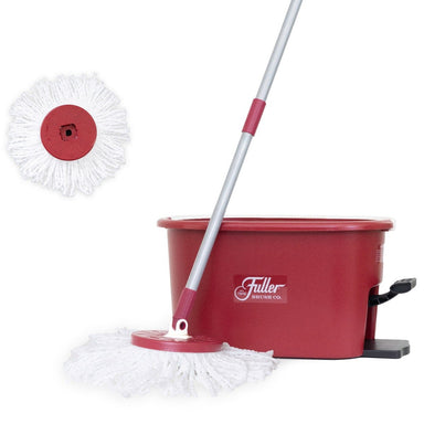 SPIN MOP BUCKET SYSTEM - EASY WRING 360° SPIN - STREAK FREE FLOOR CLEANING - 2 MICROFIBER HEADS-Mops-Fuller Brush Company