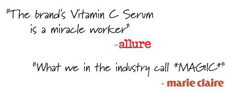 """The Brand's Vitamin C Serum is a miracle worker"""" - Allure"""