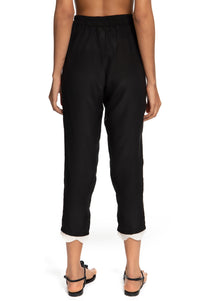 Wave Elastic Trousers Black and White