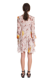 Toile de Jouy Brown Mini Daniela Dress