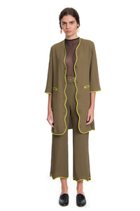 Military/Avocado 70's Trousers