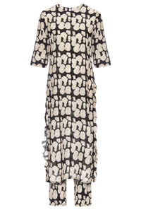 Black and White Fungus Wave Sonia Dress
