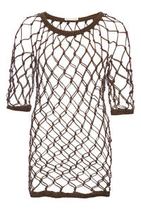 macrame net dress