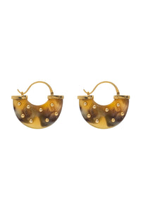 Caramel Half Moon Earrings