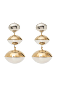 Gold and Silver 3 Ball Earrings