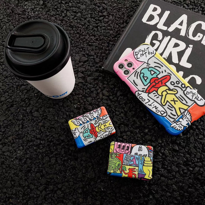 Keith Haring Artworks Airpods Case - Fashion Airpods Cases - TomorrowSummer
