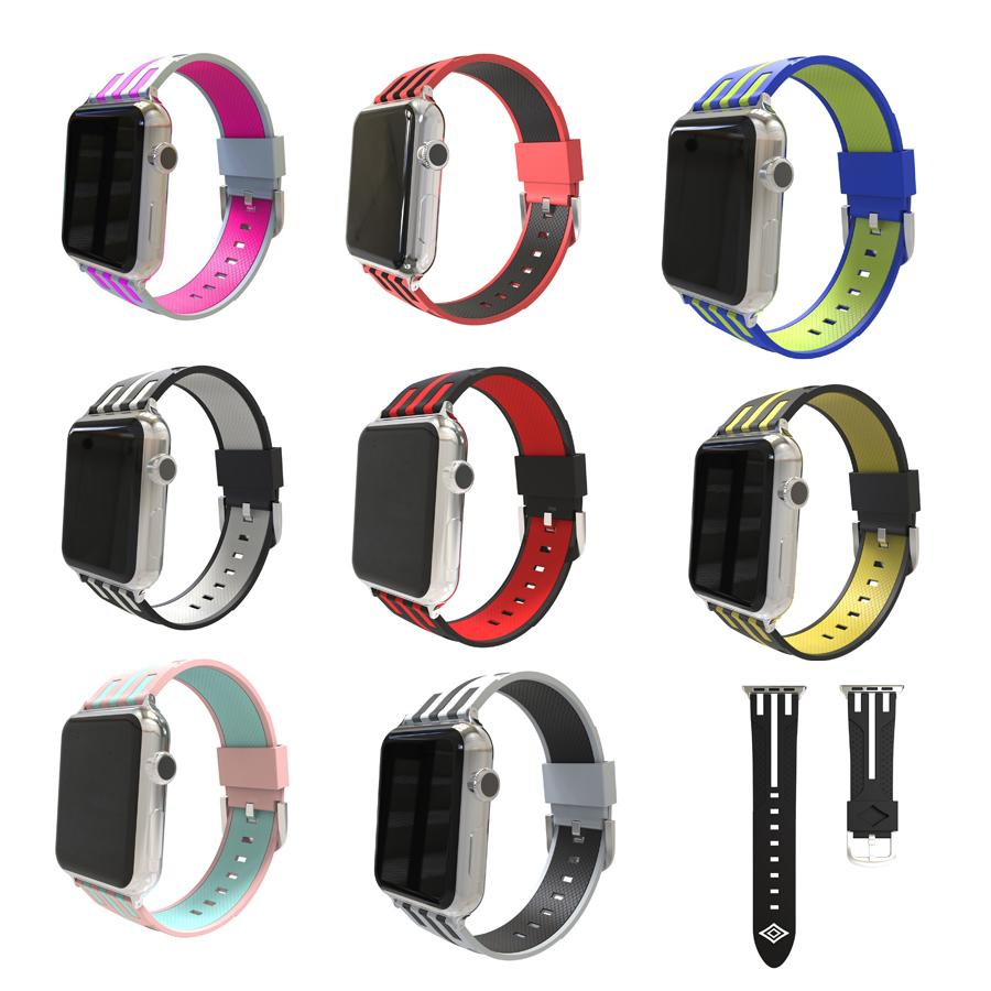 Stripe Pattern Strap For Apple Watch Series 1,2,3,4 -  - TomorrowSummer