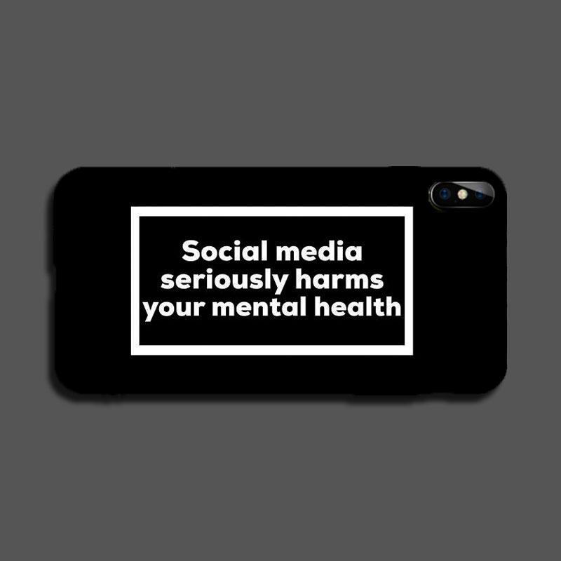 'Social Media Harms' Logo Lightening LED Flash Voice Music Control iPhone Case -  - TomorrowSummer