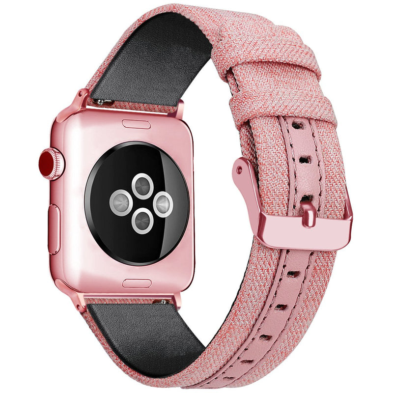 6 Colors Outdoor Nylon With Leather Strap For Apple Watch Series 1,2,3,4 -  - TomorrowSummer
