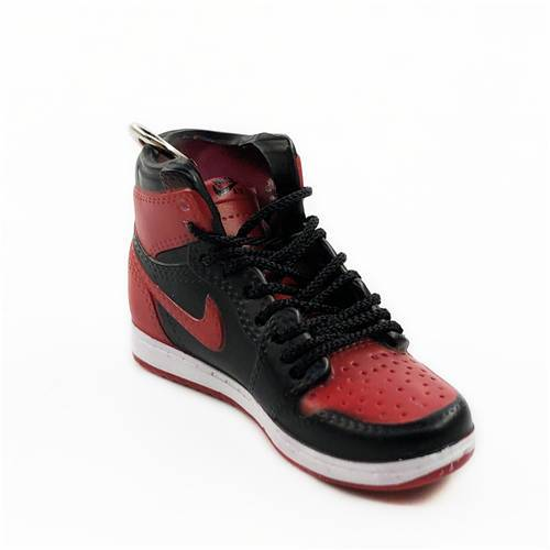 "Air Jordan 1 Retro ""Banned"" Mini Sneaker(Tiny Sneaker) Keychain -  - TomorrowSummer"