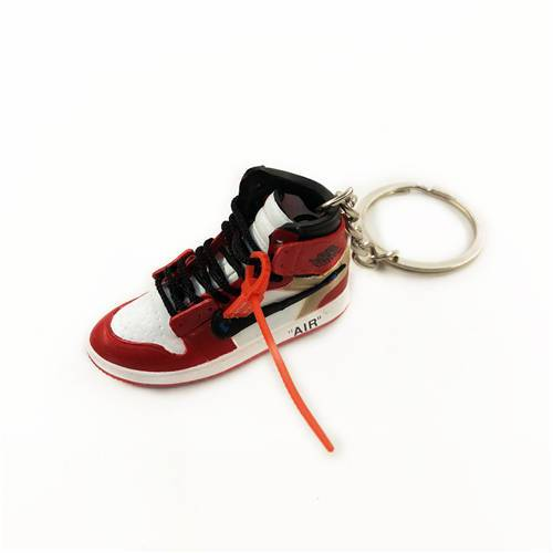 Air Jordan 1 Chicago x Offwhite Mini Sneaker(Tiny Sneaker) Keychain -  - TomorrowSummer