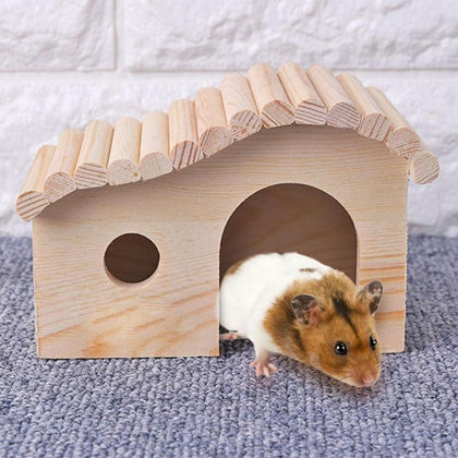 Small Pets Portable Wooden House