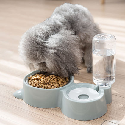 Pet Feeder with Automatic Water Dispenser