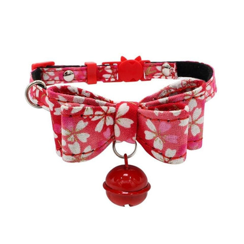 Flower Print Bowknot Collar